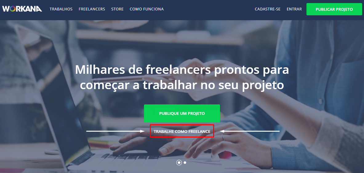 cadastro na Workana como freelancer