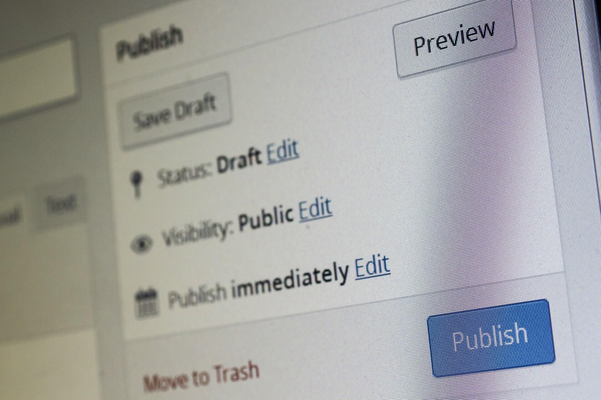 Redator Web publica conteudo