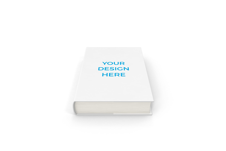 Smartmockups livro impresso de capa dura deitado frontal