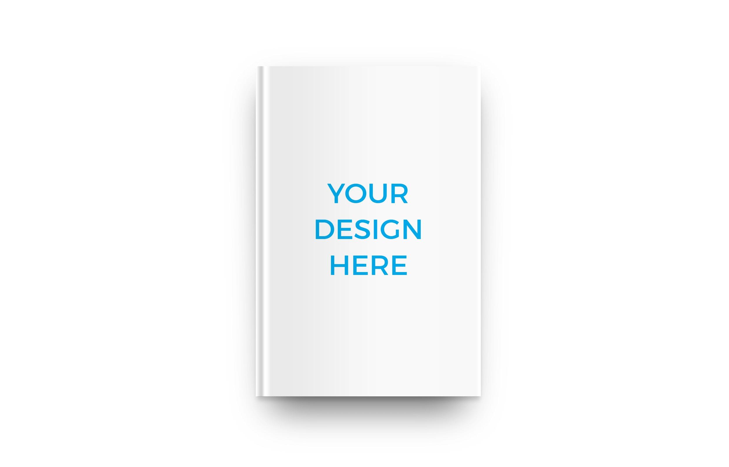 Smartmockups livro impresso de capa dura deitado visto de cima