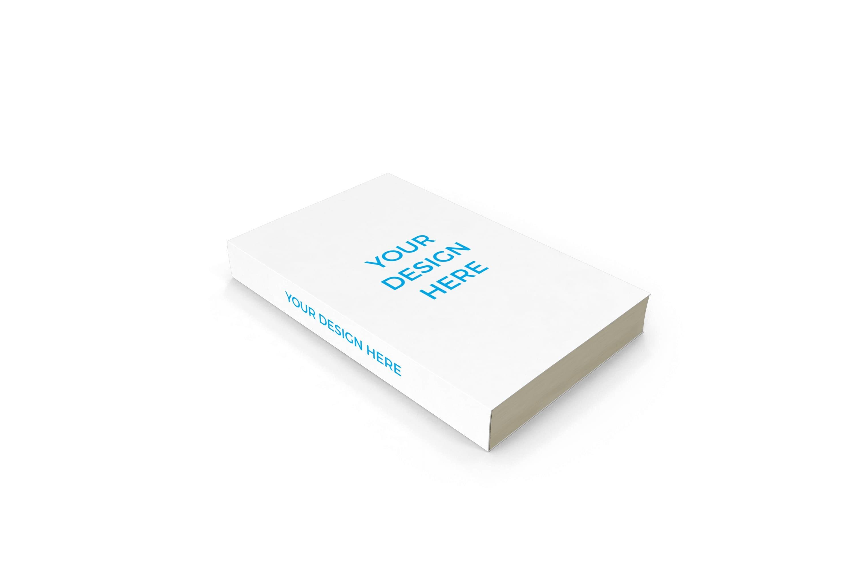 Smartmockups livro impresso deitado em diagonal com dorso