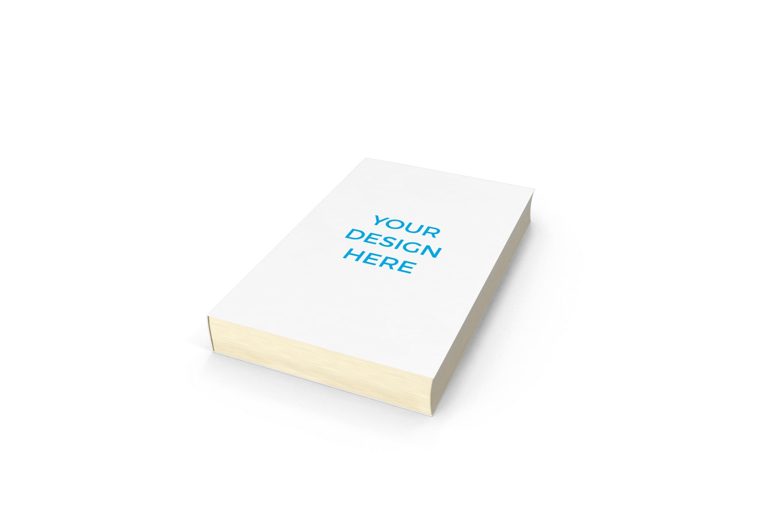 Smartmockups livro impresso deitado em diagonal sem dorso