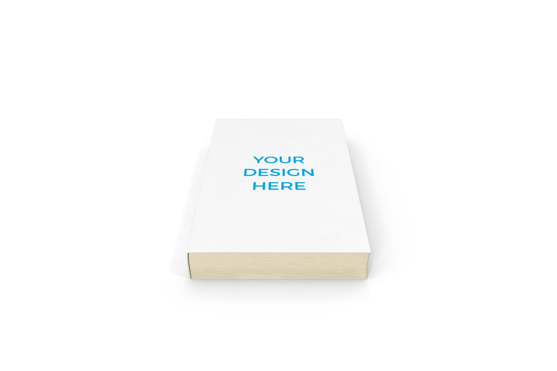 Smartmockups livro impresso deitado frontal
