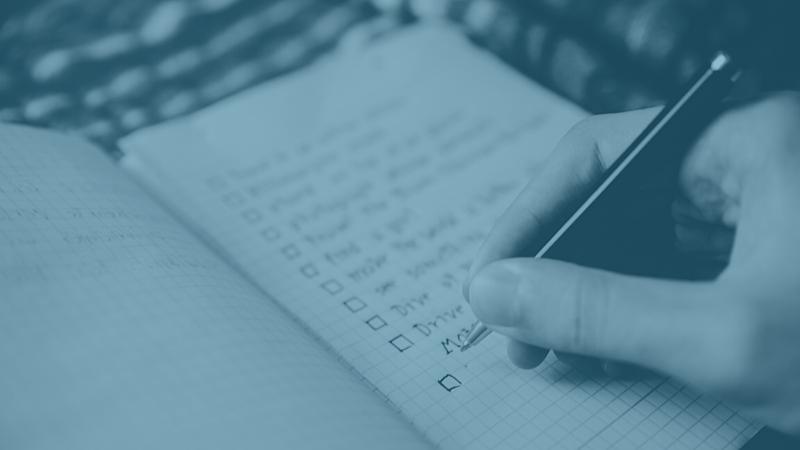 checklist de redacao